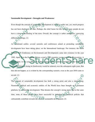 sustainable development essay example  topics and well written  sustainable development