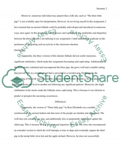 Essay about Fairytales