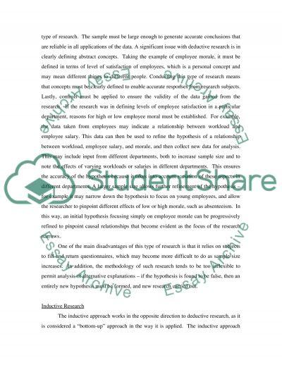 Reseach methods essay example