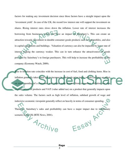 Narrative Essay Examples For High School Analysis Three Macroeconomic Factors In The Uk And How Do They Affect The  Profitability Of Sainsbury Persuasive Essay Topics High School Students also English As A Global Language Essay Analysis Three Macroeconomic Factors In The Uk And How Do They  Sample Business Essay