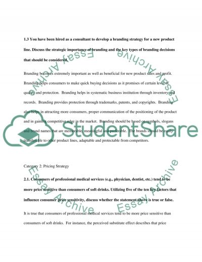 Marketing Management Essay example