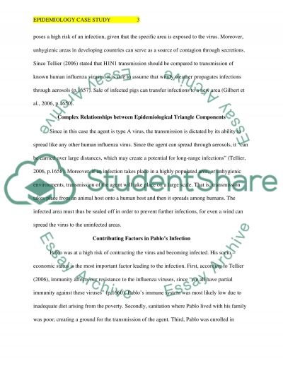 Epidemiology Case Study Paper essay example