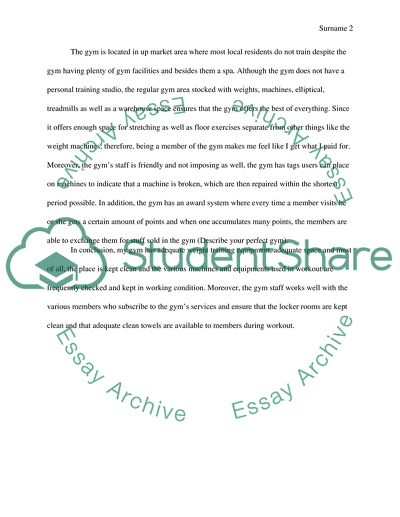 the perfect essay examples