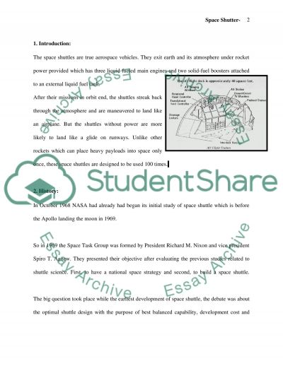 Space Shuttle essay example