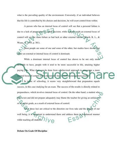Debates On Student Discipline: Understanding Behavior