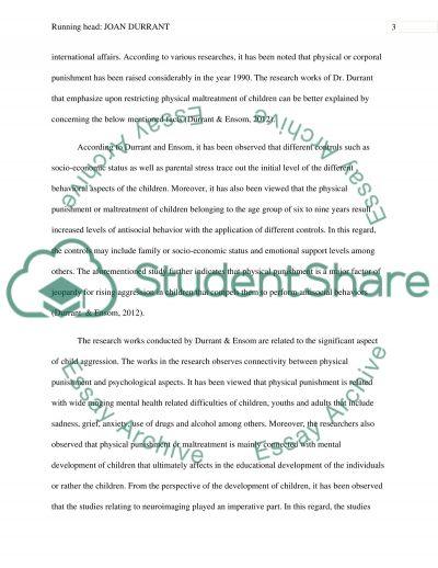 Joan durrant essay example