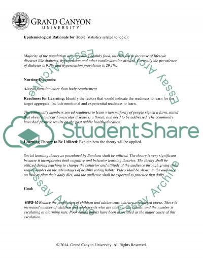 Community Teaching Work Plan Proposal Assignment