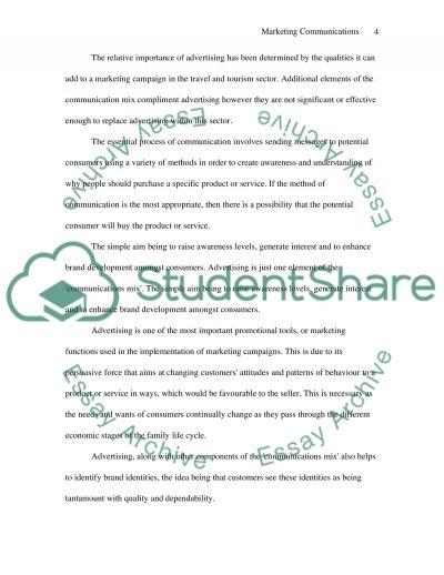 Communication mix essay example