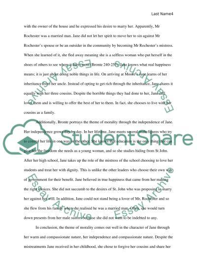 Jane eyre theme essay
