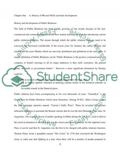 Public relations essay example