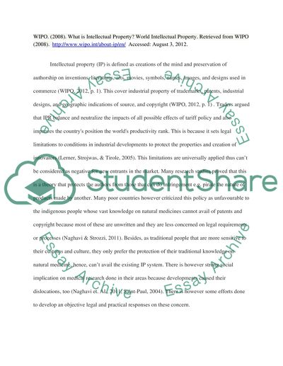Annotated Bibliography for Intellectual Property Rights