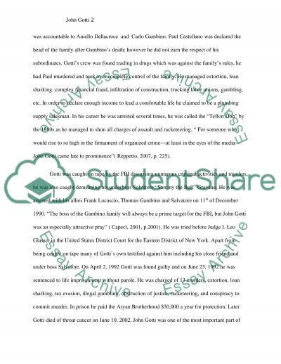 John Gotti essay example