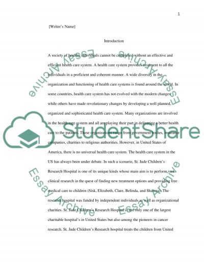 Good High School Essay Topics St Judes Children Research Hospital Essay Example Health And Fitness Essays also Essay On Health Awareness St Judes Children Research Hospital Paper Example  Topics And  How To Use A Thesis Statement In An Essay