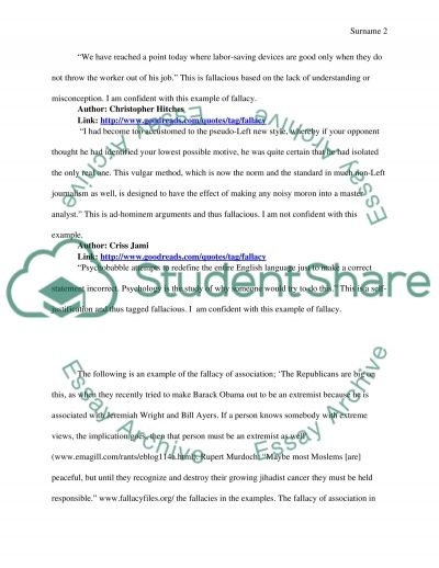 Analyzing current Fallacies; Peer Counseling on Writing