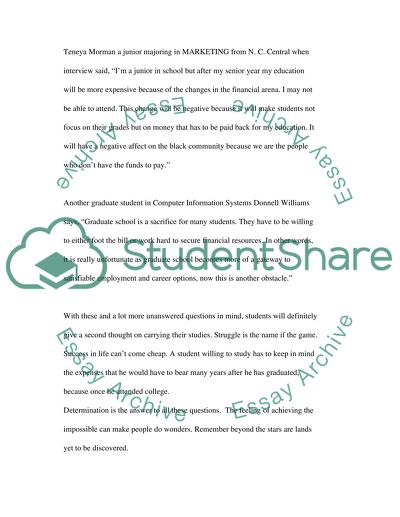 Financial Assistance for a Struggling Student