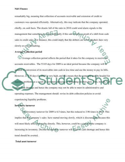 N&S Finance essay example