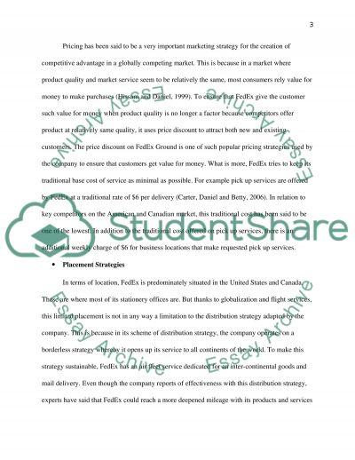 FEDEX REPORT essay example