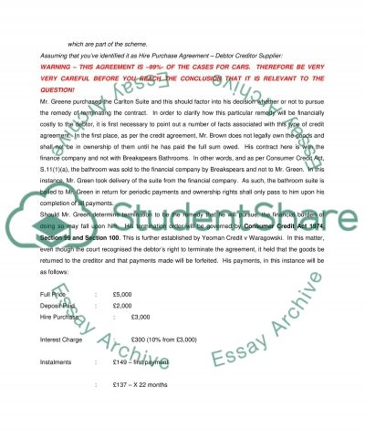 CONSUMER PROTECTION (SUPERVISED COURSEWORK) essay example