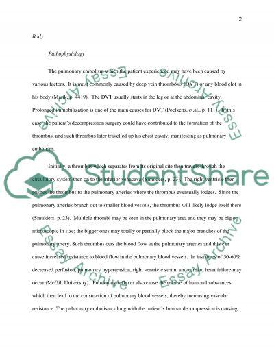 Nursing Case Study essay example