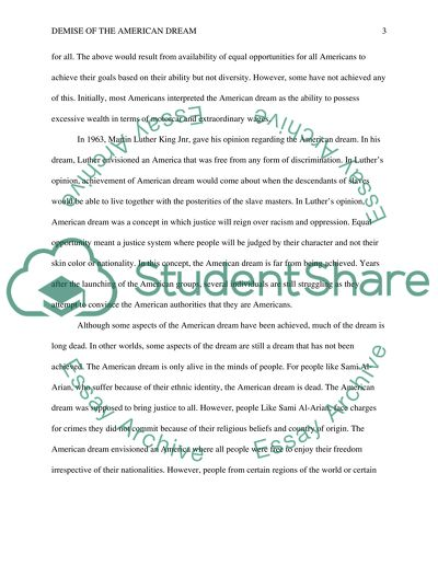 American Dream Essay Example  Topics And Well Written Essays    American Dream