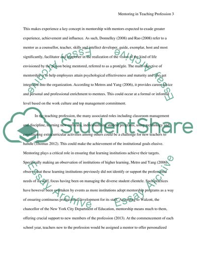 mentoring essay example  topics and well written essays    words
