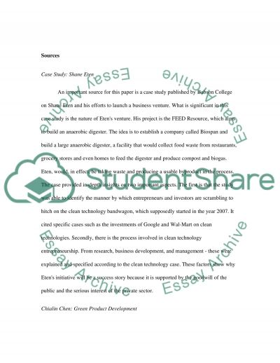 The Case for Clean Technology essay example