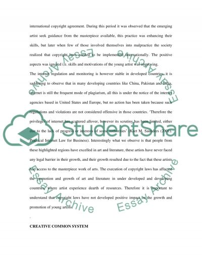 Copyright and Internet essay example