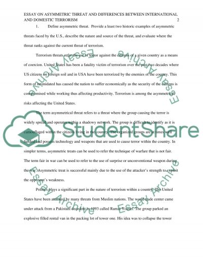 Essay About Motivation Essay On Asymmetric Threat And Differences Between International And  Domestic Terrorism Anthem Essay Examples also Persausive Essay Essay On Asymmetric Threat And Differences Between International And Discipline Essay