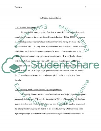 Business Strategy Case Study essay example