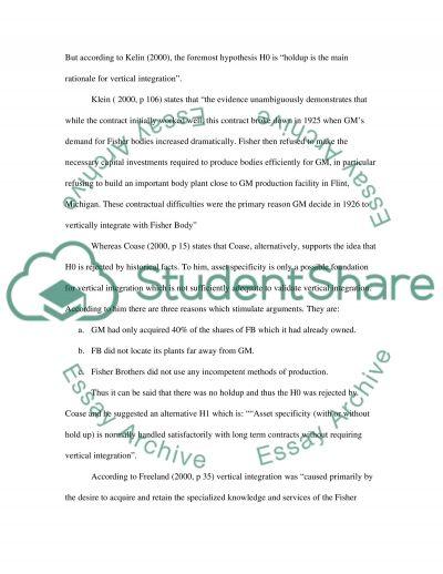 Economics of Organisations essay example