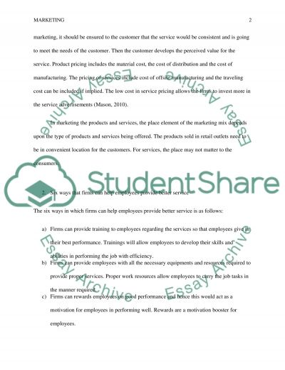 How the marketing of services differs from the marketing of products essay example
