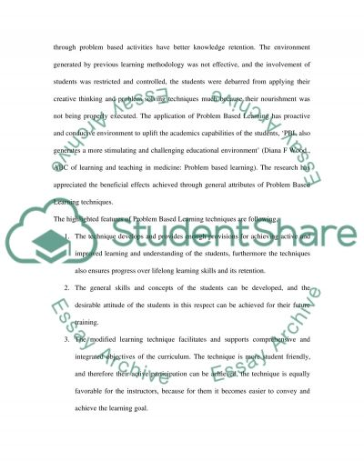Problem Based Learning in Medical Education essay example