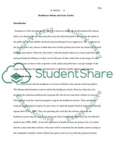 Psychology essay example