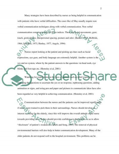 Principal barrier to nurseconsumer partnerships essay example