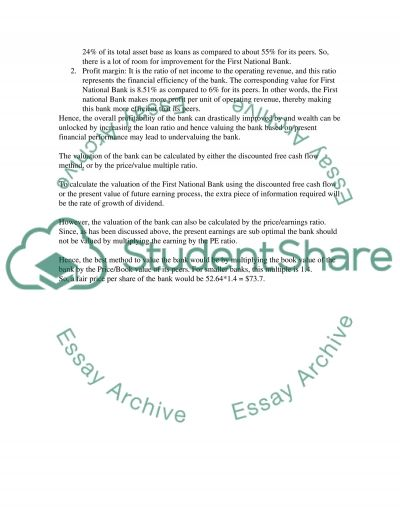 Case study on Bank Management Essay example