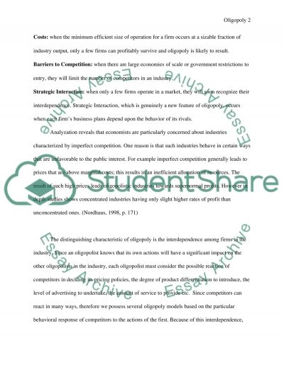 evaluation and opinion on oligopoly essay example topics and  evaluation and opinion on oligopoly essay example