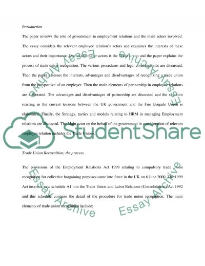 Managing Employee Relations Essay essay example