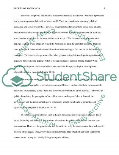 Sports of sociology essay 3