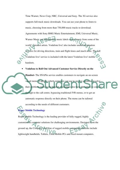 Mobile tecnology services essay example