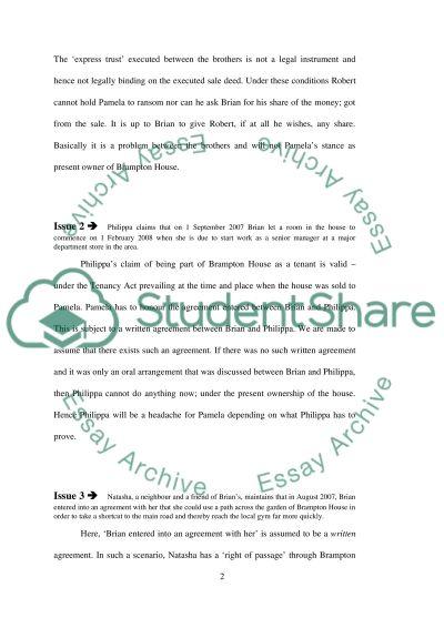 English Registered Land Law (problem Qn) essay example