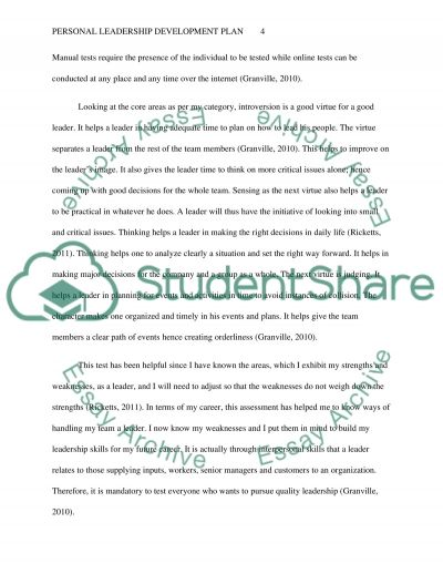 personal leadership development plan essay example topics and  personal leadership development plan essay example text preview