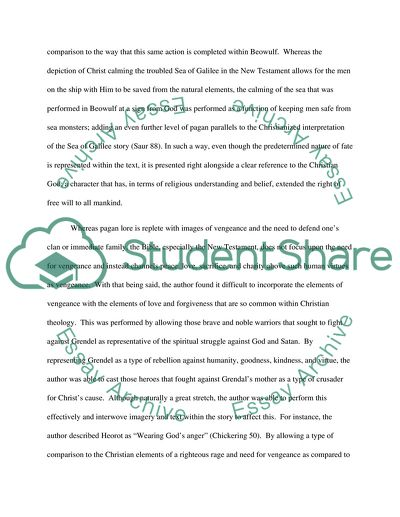 Reaction Paper On Beowulf Poem Essay Example  Topics And Well  Reaction Paper On Beowulf Poem