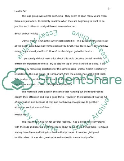 Health Fair Case Study Example Topics And Well Written Essays 500 Words