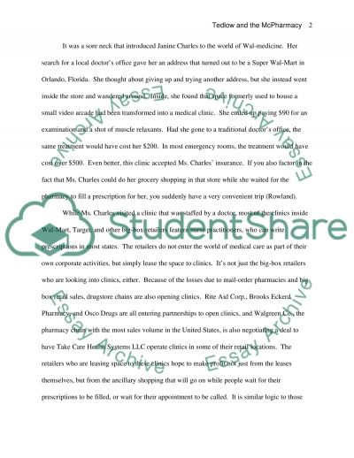 Tedlows Three Stage Model essay example