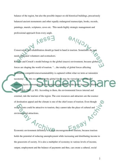 Tourism Policy and Strategy Essay essay example