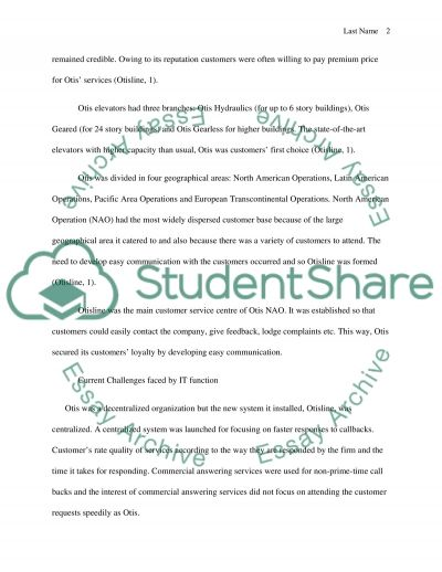 IT Strategy class paper - Read case and discuss current challenges & recommendations essay example