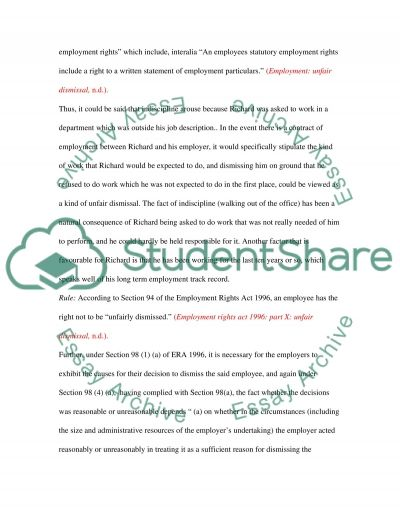 Employment Law essay example