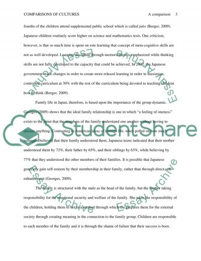 A Comparison of Japan and the Culture of the United States essay example