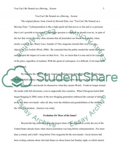 Cyber Journalism (See detail) essay example