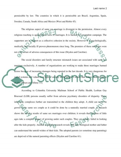 Same-Sex Marriage essay example